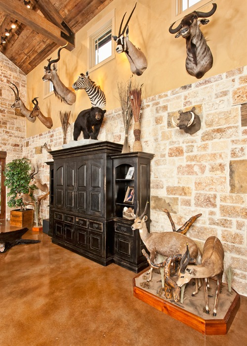 Ranch Foreman's House trophy room