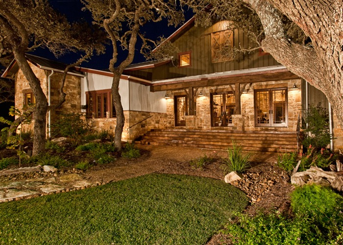 Ranch Foreman's House front elevation night