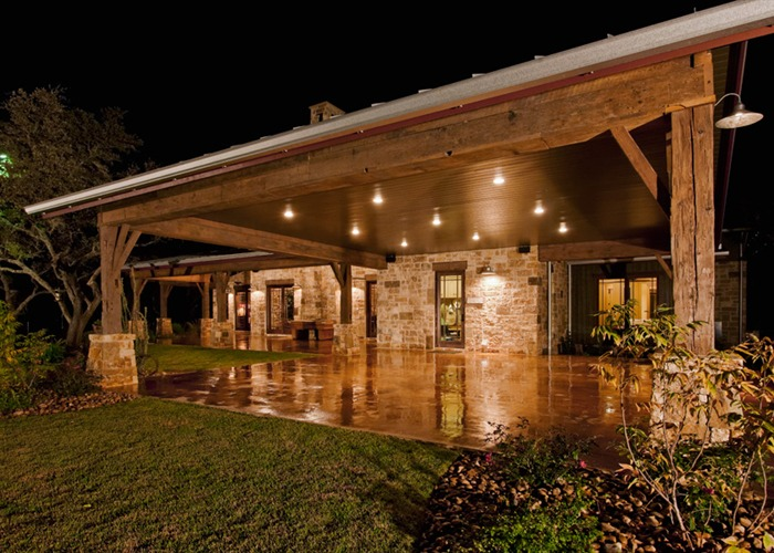 Ranch Foreman's House side elevation night