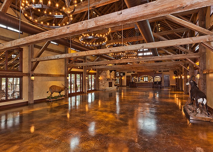 Stained Concrete | The Party Barn at The Branded T Ranch | Todd Glowka Builder, Inc.
