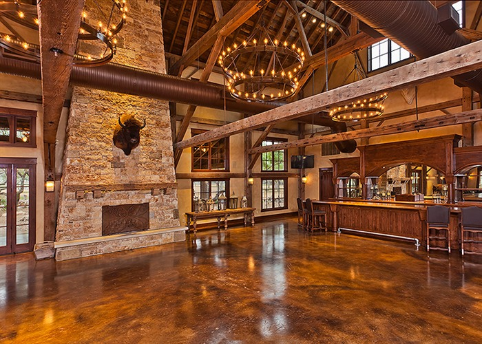 The Party Barn at The Branded T Ranch interior