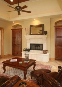 River Forest | Mediterranean Style - Fireplace