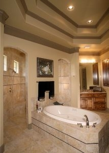 Cordillera Ranch: Traditional Texas Hill Country finishes in the master bath make this home truly magnificent.
