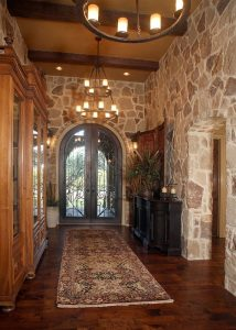 Anaqua Springs Ranch Interior: Entryway | Spanish Style Homes by Todd Glowka Builder, Inc.
