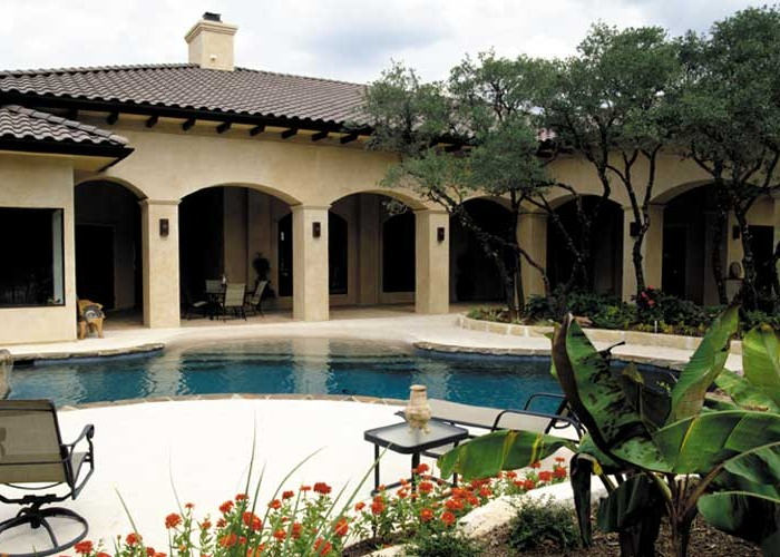 Hills Drive Custom Home: The outdoor living space provides a welcome respite from the South Texas heat.