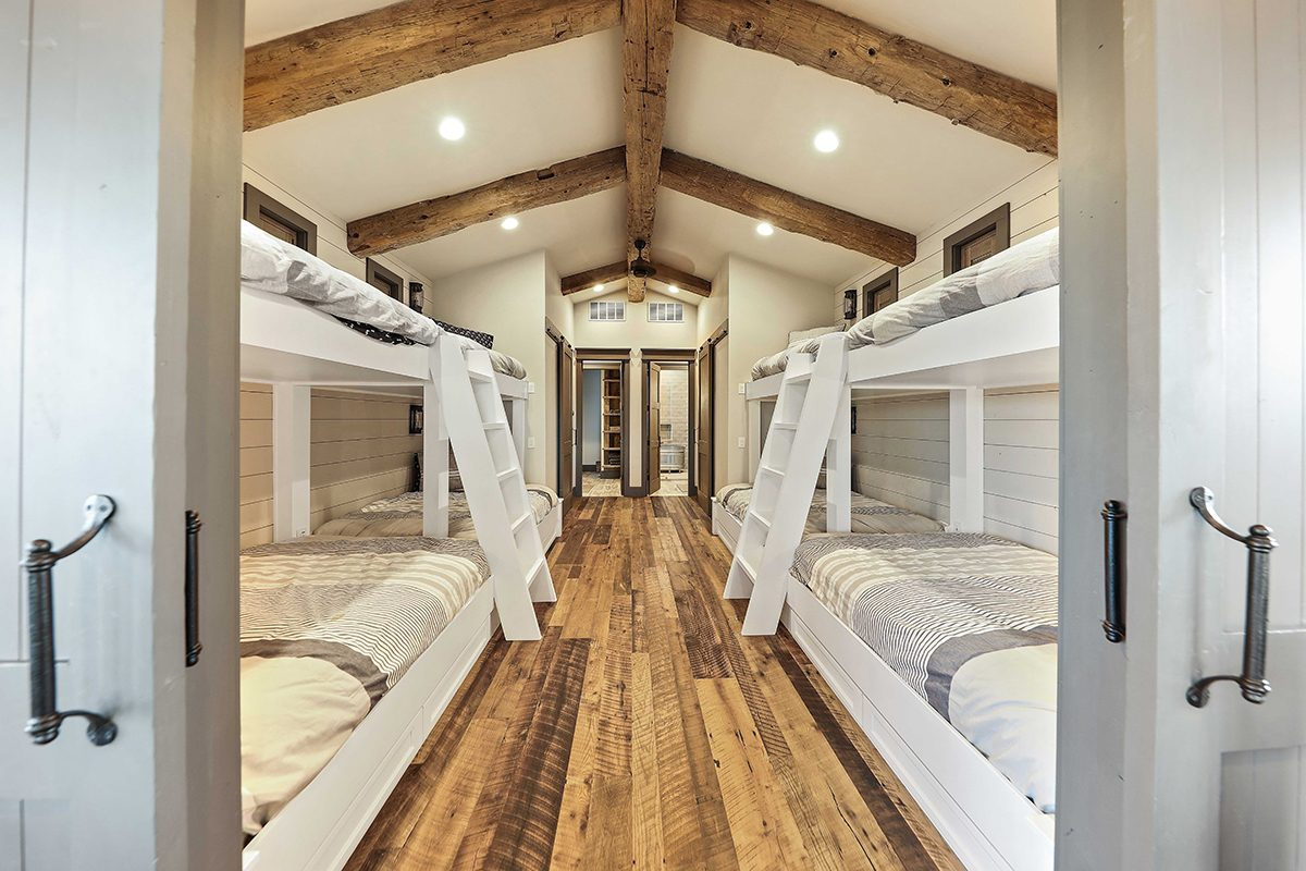 hill country custom home by Todd Glowka Builder, Inc - bunk room