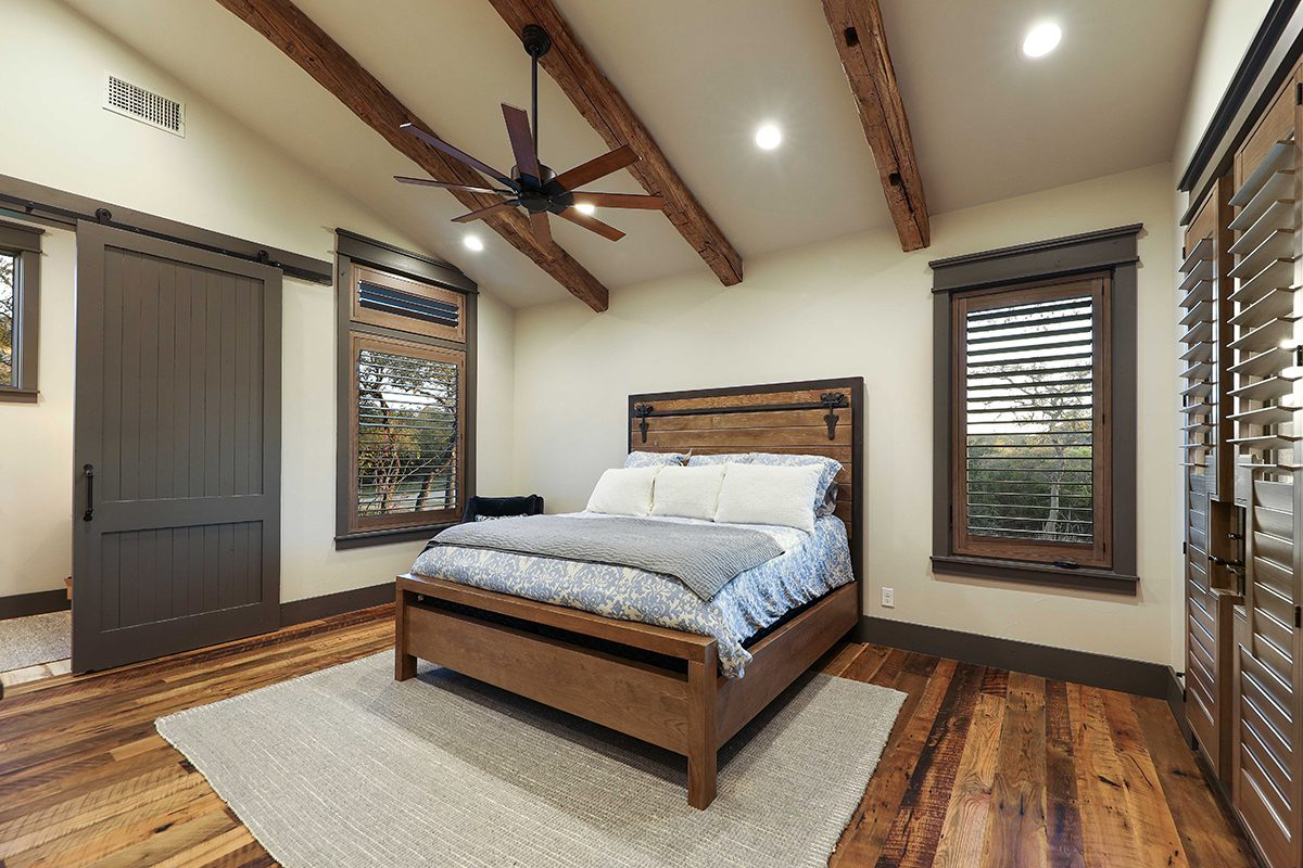 hill country custom home by Todd Glowka Builder, Inc - bedroom