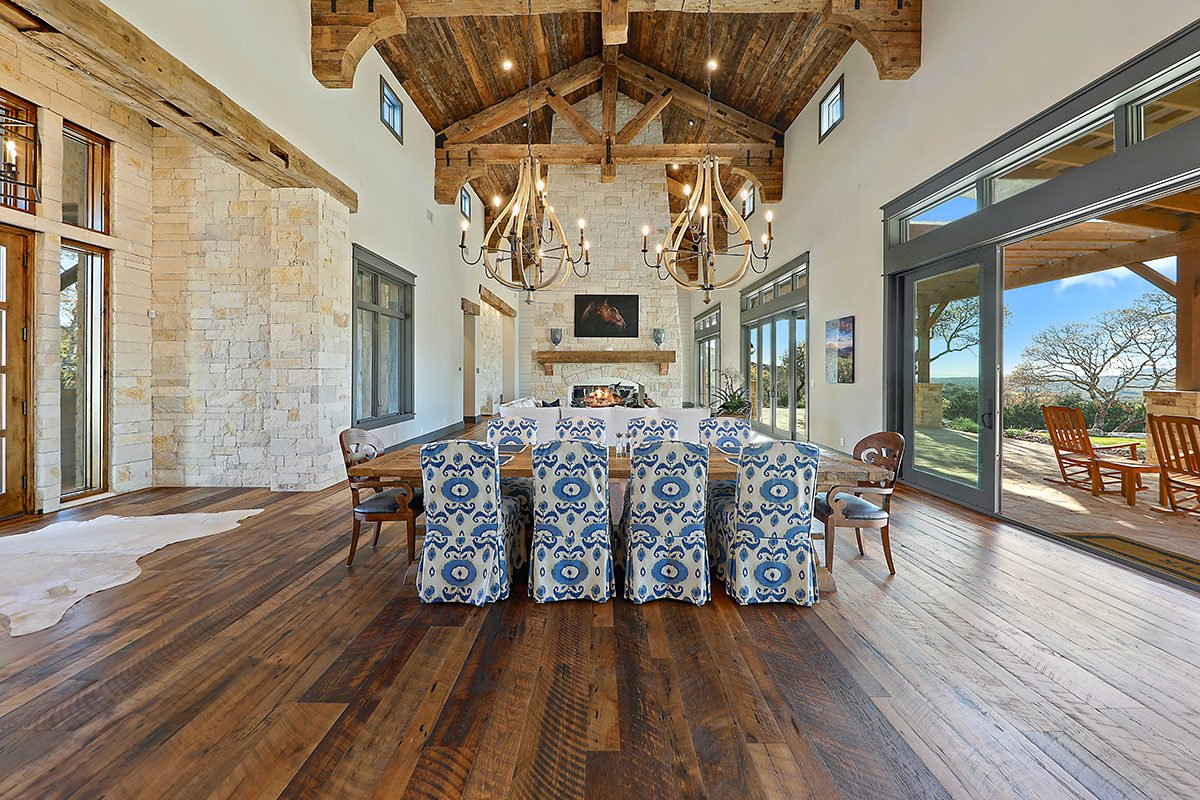 hill country custom home by Todd Glowka Builder, Inc - dining