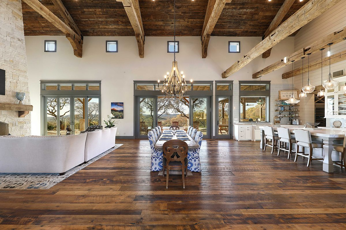 hill country custom home by Todd Glowka Builder, Inc - indoor panoramic view