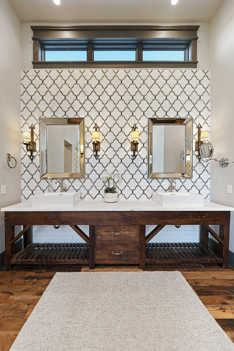 hill country custom home by Todd Glowka Builder, Inc - bathrrom vanity