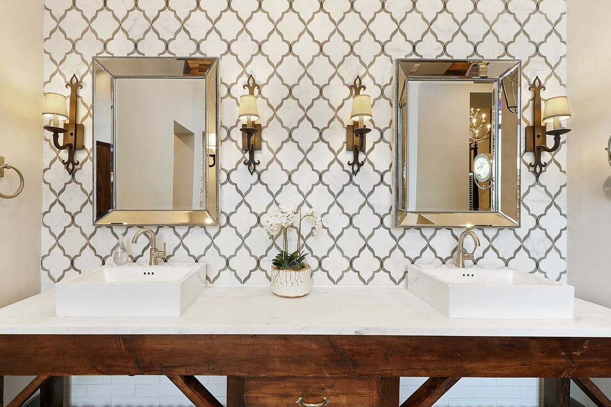hill country custom home by Todd Glowka Builder, Inc - bathrrom vanity 2
