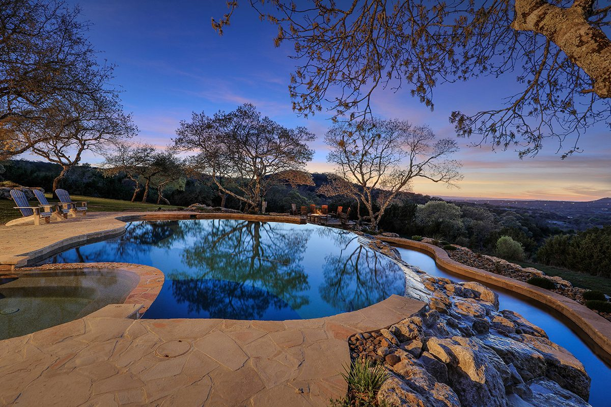 hill country custom home by Todd Glowka Builder, Inc - pool
