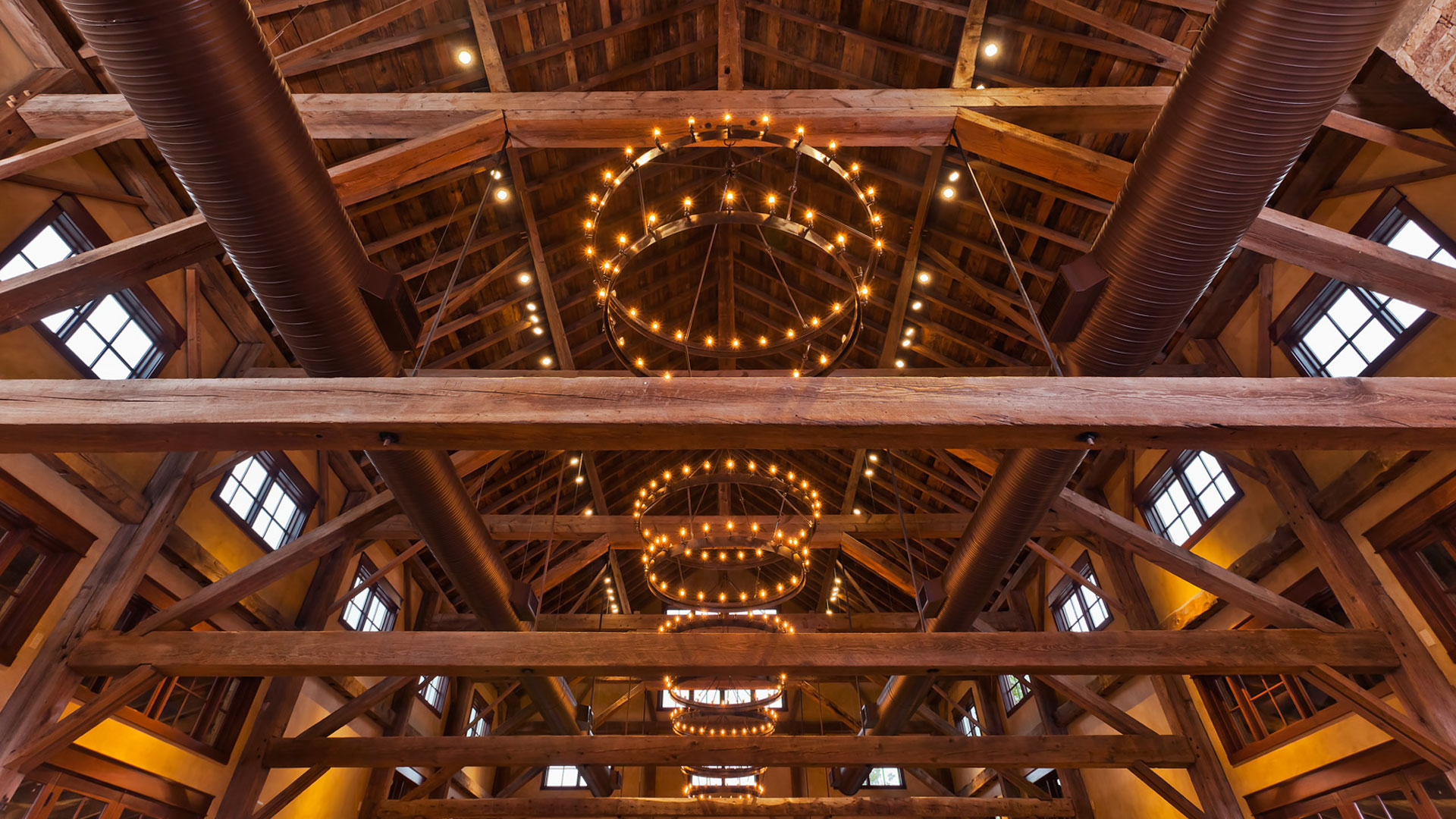 The Party Barn at The Branded T Ranch - rafters