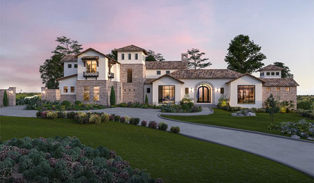 Mediterranean style home in Cordillera Ranch by cutom home builder Todd Glowka