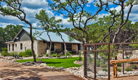 The Bunkhouse at Branded T Ranch by Texas Hill Country Home Builders Todd Glowka Builder, Inc.  built with local materials.